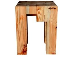 Taboret z drewna recyklingowego BLOCCO