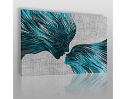 Taniec żywiołów w błękitach - nowoczesny obraz na płótnie
