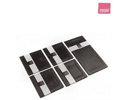 Slate Plate Smooth zestaw 4 talerzy + taca zestawsmooth5kwadrat