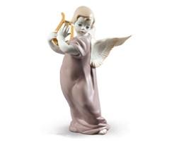 Figurka Anioła z lirą 19x15 cm