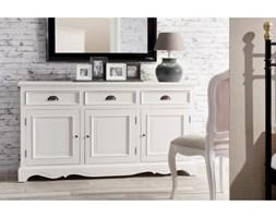 Dekoria Komoda Brighton 3 drzwi + 3 szuflady white, 160x40x87cm