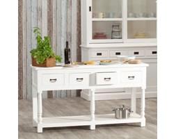 Dekoria Konsola Brighton 4 szuflady white, 149x48x84cm