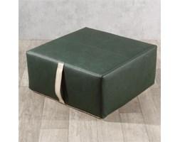 Dekoria pufa z rączką, ciemnozielony (eko-skóra), 65x65x30cm, Eco-leather