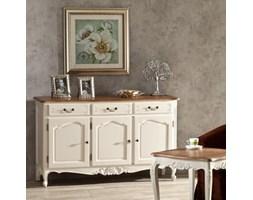 Dekoria Komoda Dorothee 3 szuflady + 3 drzwi, white&natural, 151x45x91cm