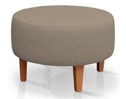 Dekoria Podnóżek okrągły, Grey Brown (szary brąz), Ø60x40cm, Cotton Panama