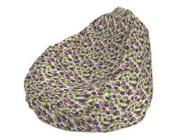 Dekoria Worek do siedzenia, fioletowo-zielone kwiatuszki na jasnym tle, Ø60x105 cm, Fleur
