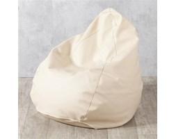 Dekoria Worek do siedzenia, jasny beż (eko-skóra), Ø50x85 cm, Eco-leather
