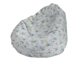 Dekoria Worek do siedzenia, niebieskie kwiaty na białym tle, Ø60x105 cm, Mirella