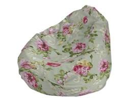 Dekoria Worek do siedzenia, róże na miętowym tle, Ø80x115 cm, Flowers/Luna