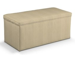 Dekoria Skrzynia tapicerowana, beżowa kratka, 90x40x40 cm, Kids/Baby do -30%