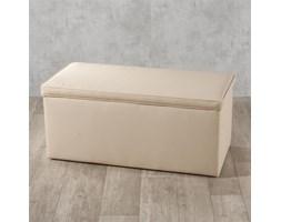 Dekoria Skrzynia tapicerowana, jasny beż (eko-skóra), 90x40x40 cm, Eco-leather