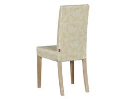Dekoria Sukienka na krzesło Harry krótka, ecru tło, żakardowe kwiaty, krzesło Harry, Arcana