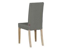 Dekoria Sukienka na krzesło Harry krótka, jasne serduszka na szaro-beżowym tle, krzesło Harry, Nordic