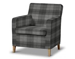 Dekoria Pokrowiec na fotel Karlstad, krata w odcieniach szarości, Fotel Karlstad, Edinburgh