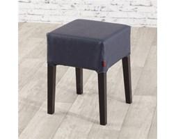 Dekoria Pokrowiec na stołek Nils, granatowa czerń (eko-skóra), stołek Nils, Eco-leather
