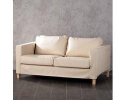Dekoria Pokrowiec na sofę Karlstad 2-osobową ekoskóra, jasny beż (eko-skóra), sofa Karlstad 2-os. nierozkładana, Eco-leather