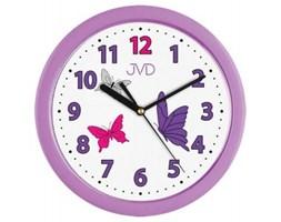 Plastikowy zegar ścienny H12.1 - Jasněna Vláhová Design - fioletowy