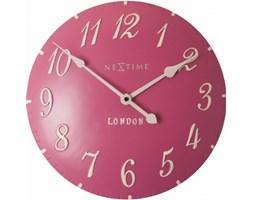 NeXtime - Zegar ścienny - London Arabic - różowy - 3084 RZ