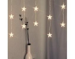 Piękna zasłona gwiazdki LED ciepła biel