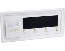 Dekoracyjny organizer: 4 haczyki, tablica MEMO, uchwyt na notatki