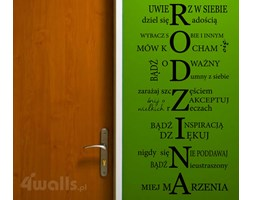 naklejka napisy RODZINA na DaWanda.pl
