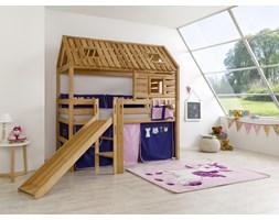 Łóżko bukowe antresola domek Wendy 31 90x200