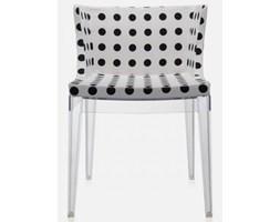 Kartell Krzesło Mademoiselle transparentno-białe - 4895-PB
