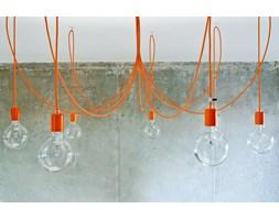 Żyrandol kolorowe kable w oplocie pomarańczowym imindesign
