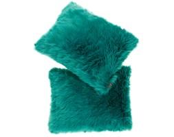 Futrzana poduszka dekoracyjna CZUPER turkusowy 40x50 cm