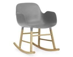 Form Normann Copenhagen szary fotel bujany, dębowy