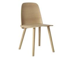 Muuto Nerd dębowe, wygodne krzesło drewniane w skandynawskim stylu