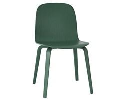 Muuto zielone krzesło Visu całe z drewna