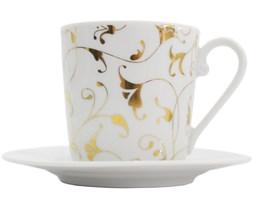 CHC Fleur Gold 170ml espresso cup