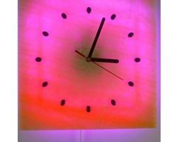 ZEGAR KINKIET LED RGB z ONYKSU 30x30 cm z PILOTEM ZO96