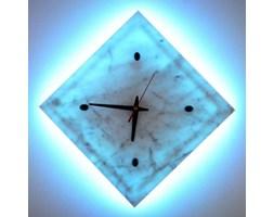 ZEGAR-KINKIET LED RGB z MARMURU 30x30 cm z PILOTEM ZM83