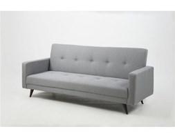 Sofa leone grey rozkładana sofa pikowana szara z drewnianymi nogami