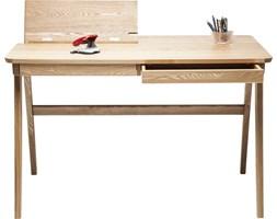 Czerwone Meble biurowe drewniane – modne wyposażenie wnętrz na Homebook.pl