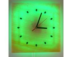 ZEGAR-KINKIET LED RGB z ONYKSU 30x30 cm z PILOTEM ZO96