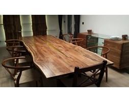 Stół Amber 250 z imitacją bursztynu z drewna orzechowego