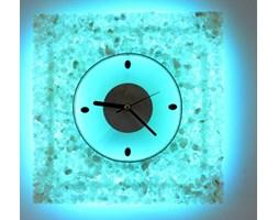 ZEGAR-KINKIET LED RGB z KRYSZTAŁÓW SOLI 30x30 cm z PILOTEM ZS78