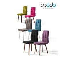 Krzesło comfort styl skandynawski pikowane siedzisko z drewnianymi