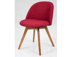 Krzesło Ally Bess czerwone nogi drewniane Tenzo AllyBess-CZE-D