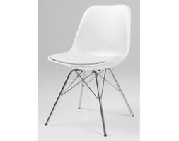 Krzesło Grace Porgy białe nogi chromowe Tenzo GracePorgy-B-CH