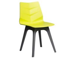 Krzesło Leaf limonkowe, podst. szara
