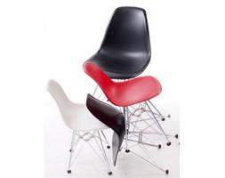 Krzesło JuniorP016 czarne, chrom. nogi