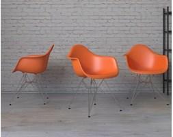 Krzesło P018 PP pomarańczowe, chrom nogi