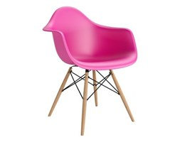 Krzesło P018W PP dark pink, drewniane nogi HF