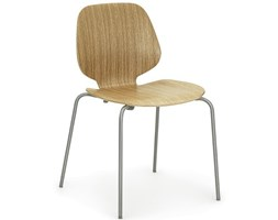 Normann Copenhagen My Chair dębowe z szarymi nogami, wygodne krzesło w skandynawskim stylu