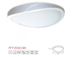 PP P Design P 2010/3B PLAFON LAMPA SUFITOWA UFO 50CM METAL BIAŁY SZKŁO MAT E27 3x60W LED