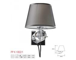PP Design K 1062/1 GREY KINKIET LAMPA ŚCIENNA METAL CHROM ABAŻUR MATERIAŁ SZARY SZKŁO REGULOWANY E27 LED